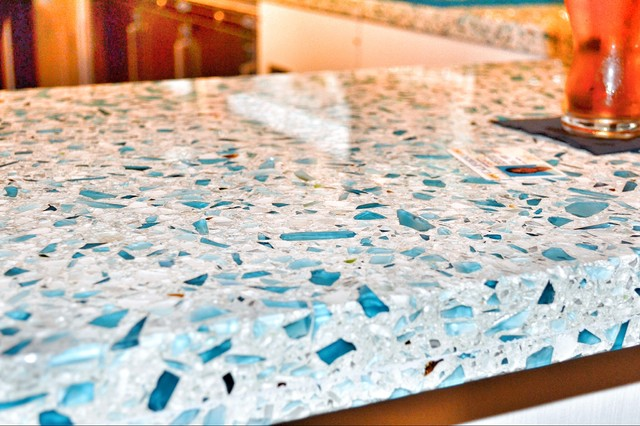 Recycled kitchen worktops